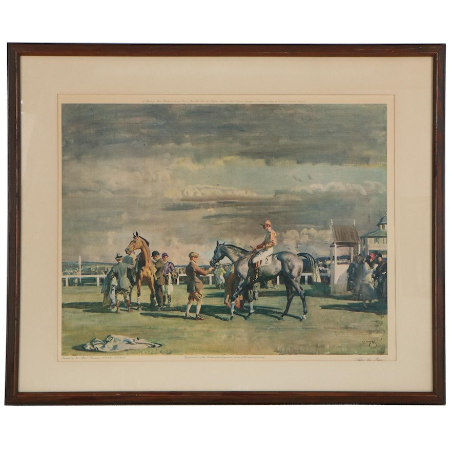 "Giclée after Sir Alfred Munnings ""After the Race,"" Late 20th Century"