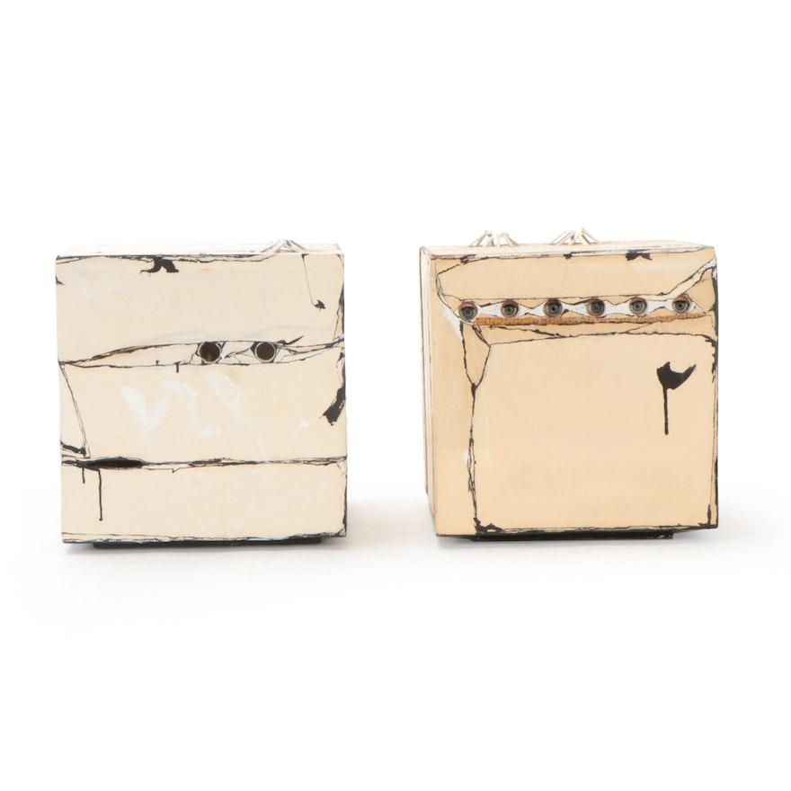 """Jeri Summers Mixed Media Sculpture """"Jeri's Box,"""" 1973"""