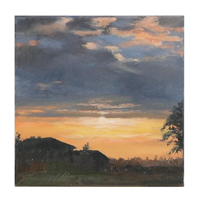 "Garncarek Aleksander Oil Painting ""Sunset"""
