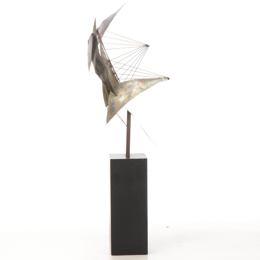 Non-Objective Abstract Metal Sculpture Assemblage