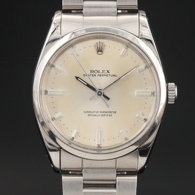 "1962 Rolex Oyster Perpetual ""1018 Jumbo"" Wristwatch"