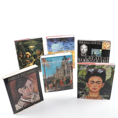 Art Reference Books on Frida Kahlo, Pablo Picasso, Vincent van Gogh, and More