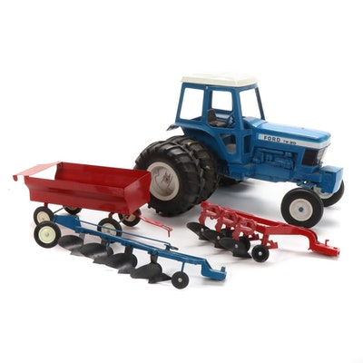 Ford TW-20 Model Tractor with Accessories, Mid to Late 20th Century