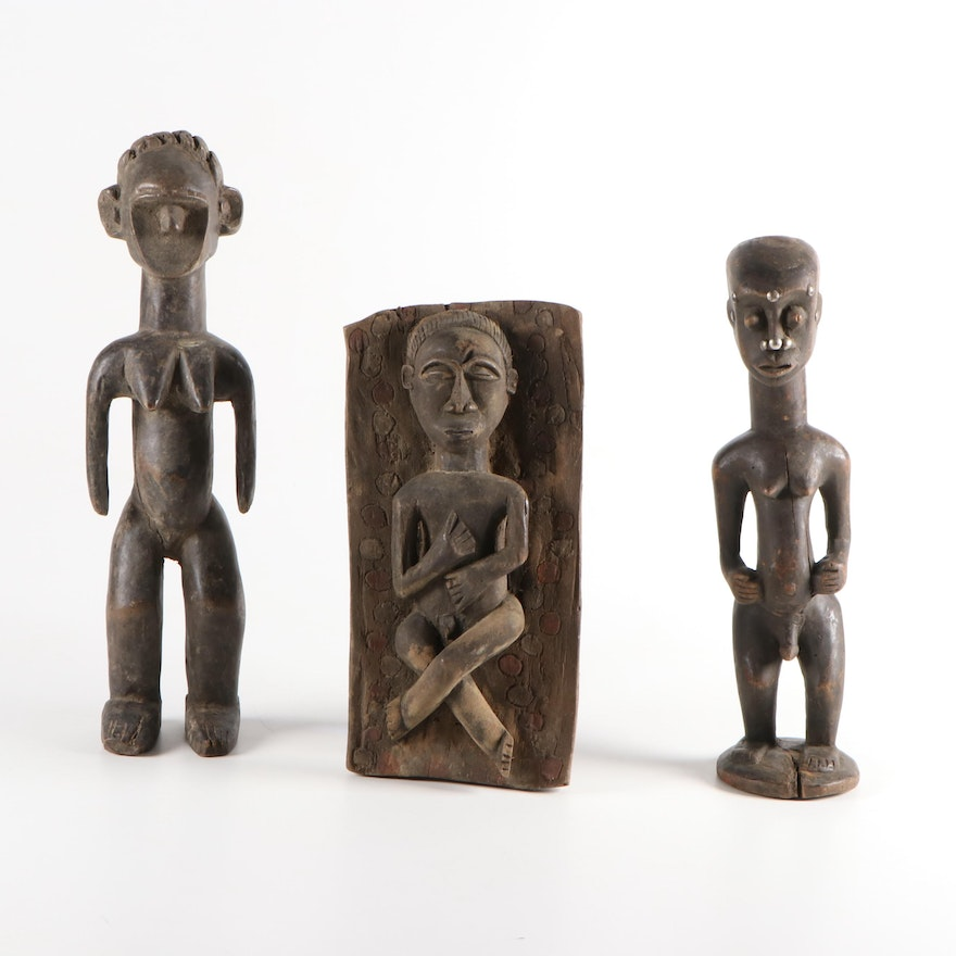 West African Handcrafted Figures and Figural Panel