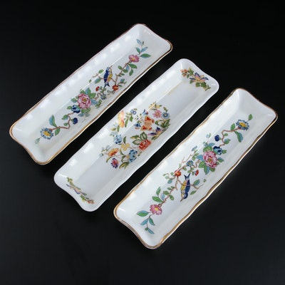 "Aynsley ""Cottage Garden"" and ""Pembroke"" Bone China Mint Trays"