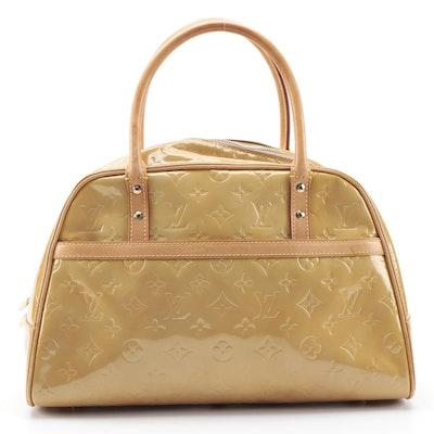 Louis Vuitton Tompkins Square Handbag in Mango Monogram Vernis