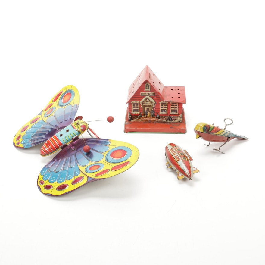 J. Chein & Co., Lindstrom, and Other Tin Litho Toys, Early to Mid-20th Century