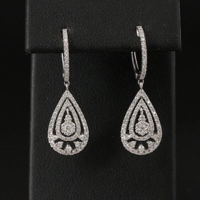18K 1.11 CTW Diamond Drop Earrings