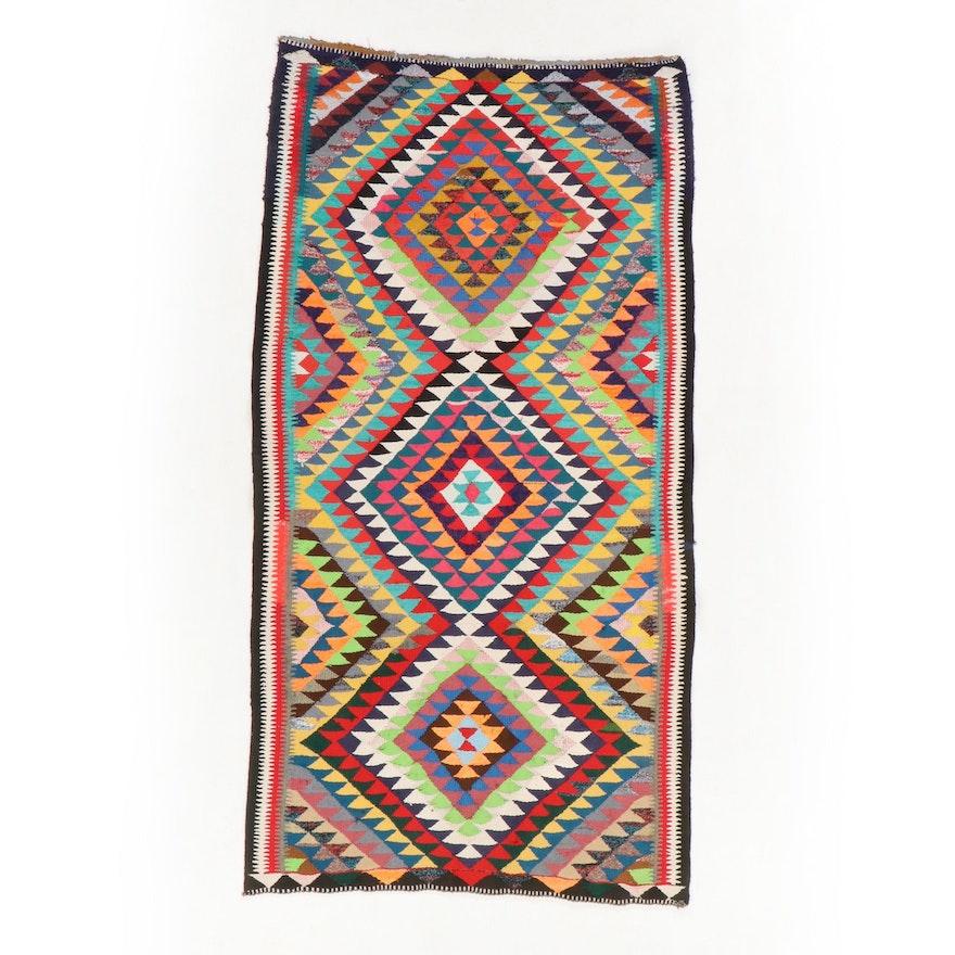 5'3 x 10'1 Handwoven Persian Kilim Area Rug