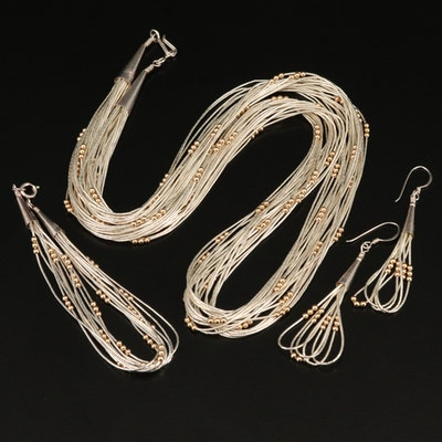 Sterling Liquid Silver Jewelry Set