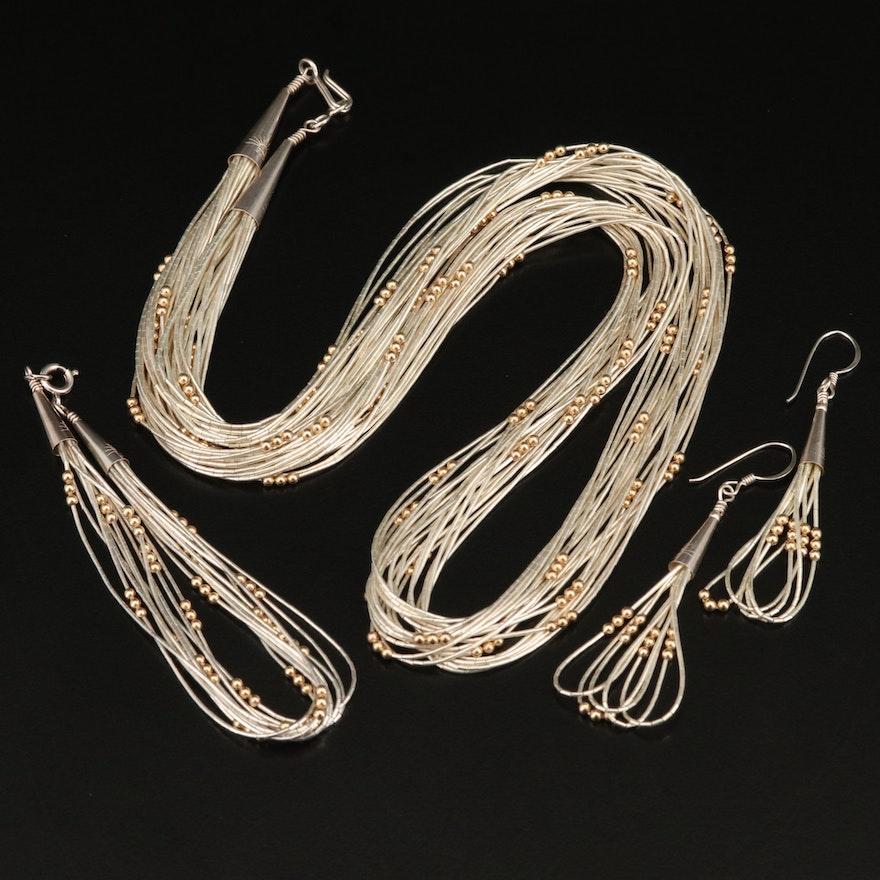 Sterling Liquid Silver Jewelry Set