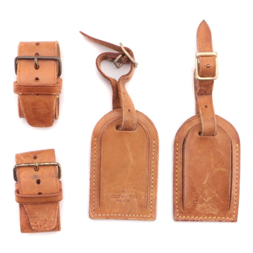Louis Vuitton Vachetta Leather Poignets and Luggage Tags