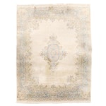 8'11 x 12'2 Hand-Knotted Indo-Persian Kerman Wool Room Sized Rug