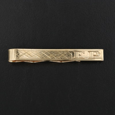 18K Engraved and Personalized Tie Bar