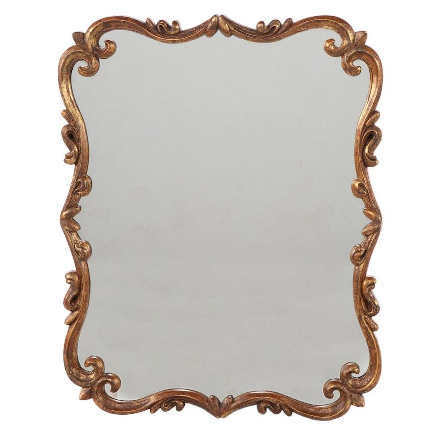 Mirror Image Home Rococo Style Gilt Composite Mirror