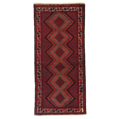 2'10 x 6'3 Hand-Knotted Afghani Tribal Baluch Wool Area Rug