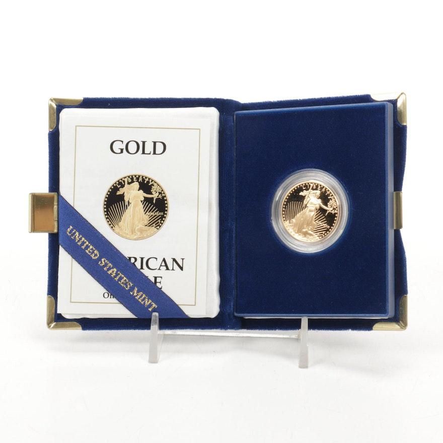 1989 $25 1/2 Troy Ounce American Eagle Gold Proof Bullion Coin