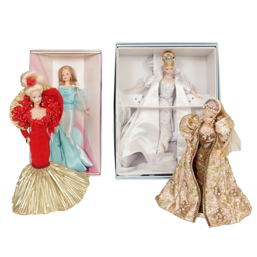 """Mattel """"Crystal Jubilee"""", """"Golden Anniversary"""" and Other Barbie Dolls"""