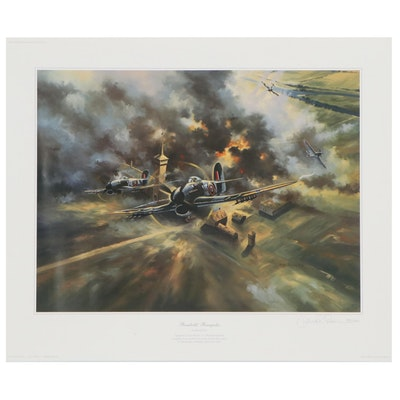 "David Poole Offset Lithograph ""Rumbolds' Renegades,"" 1997"