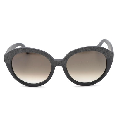 ETRO Matte Paisley Round Modified Cat Eye Sunglasses