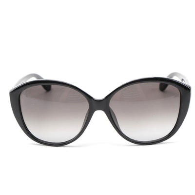 ETRO Black Paisley Modified Cat Eye Sunglasses