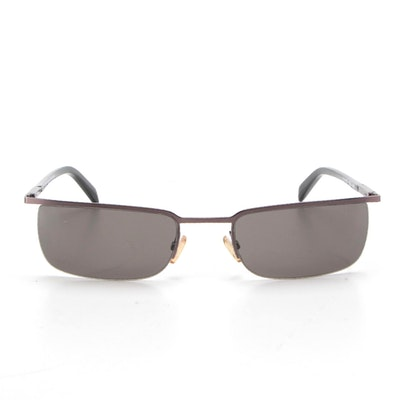 Lanvin LV4102 Semi-Rimless Rectangular Sunglasses with Case