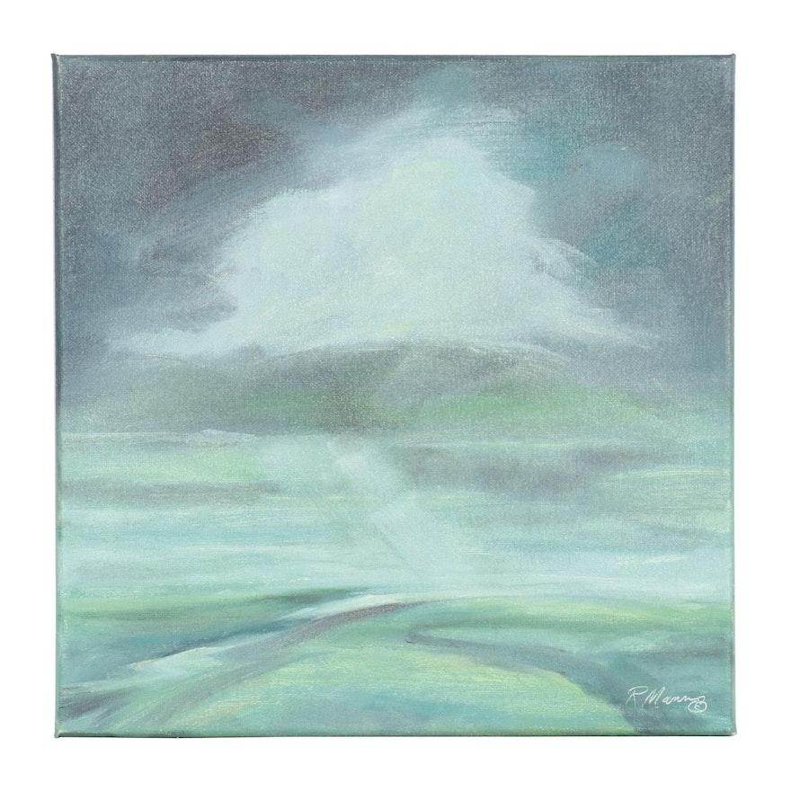 "Rebecca Manns Landscape Oil Painting ""Floating Calm,"" 2021"