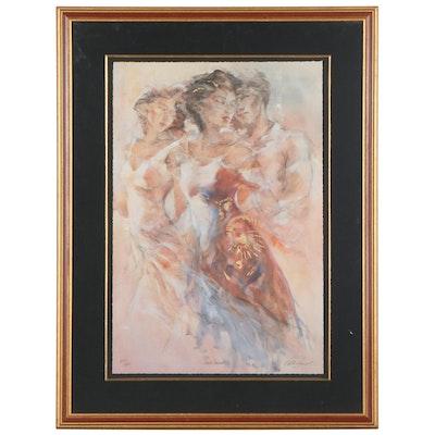 "Gary Benfield Hand-Embellished Giclée ""Love Secrets"""