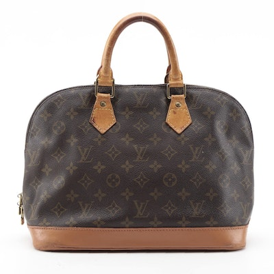 Louis Vuitton Alma PM Satchel in Monogram Canvas