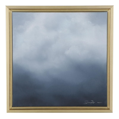 "Sarah Brown Oil Painting ""Cloudscape Series III,"" 21st Century"