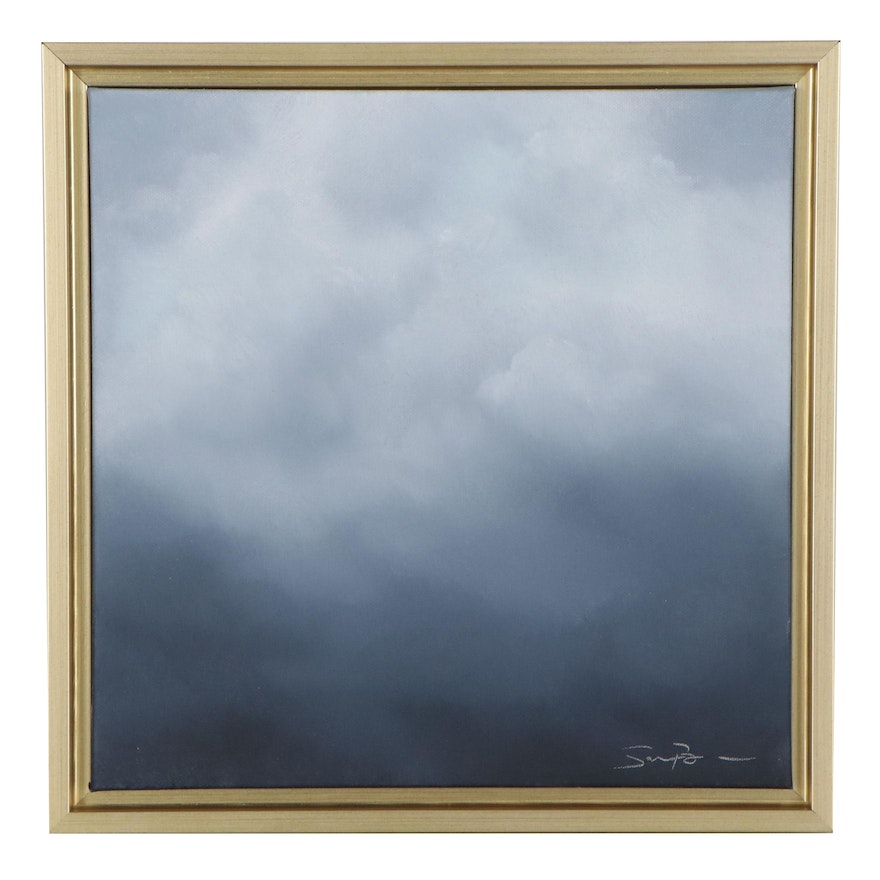 """Sarah Brown Oil Painting """"Cloudscape Series III,"""" 21st Century"""