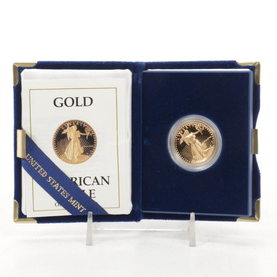 1988 $25 1/2 Troy Ounce American Eagle Gold Proof Bullion Coin