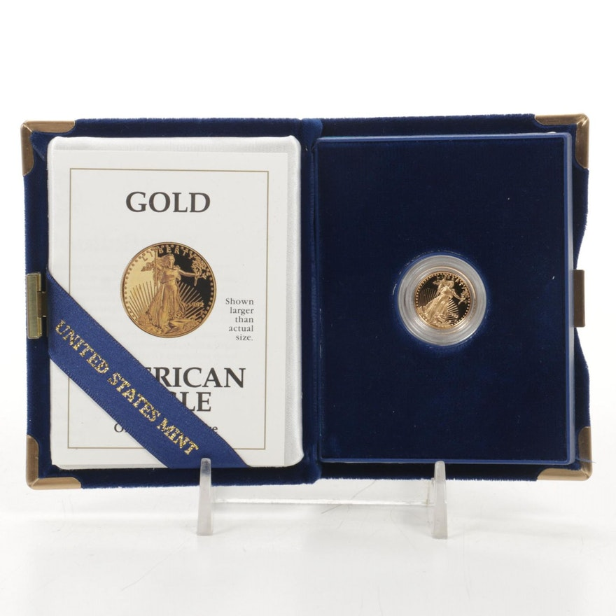 1992 $5 Tenth-Ounce American Eagle Gold Proof Bullion Coin