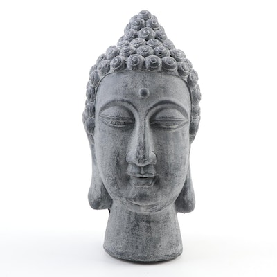 Thai Style Stone Finish Ceramic Gautama Buddha Head