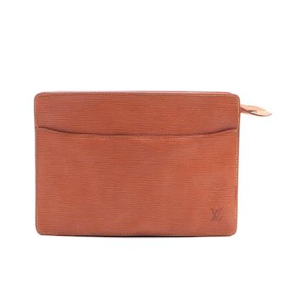 Louis Vuitton Pochette Homme Zip Clutch/Pouch in Epi Leather