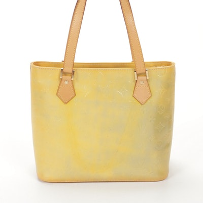 Louis Vuitton Houston Tote in Mango Monogram Vernis and Vachetta Leather