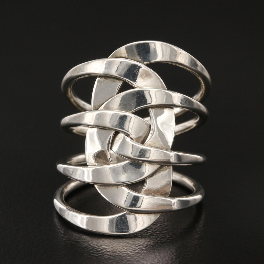Sterling Openwork Intertwined Ring