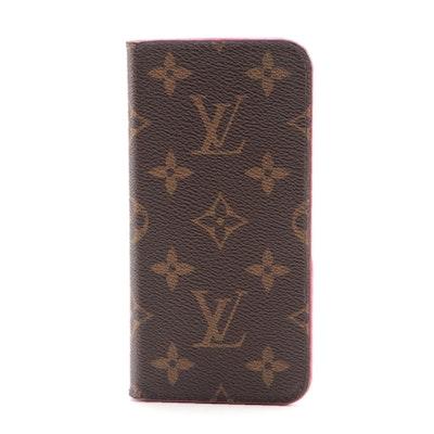 Louis Vuitton Folio iPhone X Case in Monogram Canvas