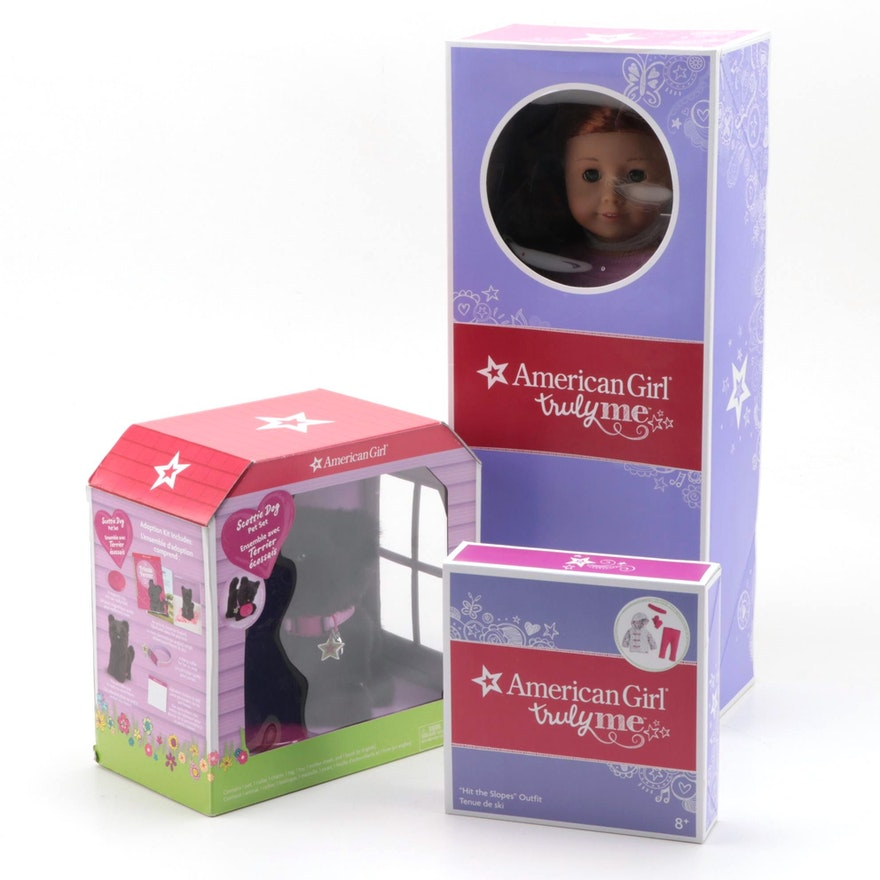 """American Girl """"Truly Me"""" Doll with Scottie Dog and Accessories"""