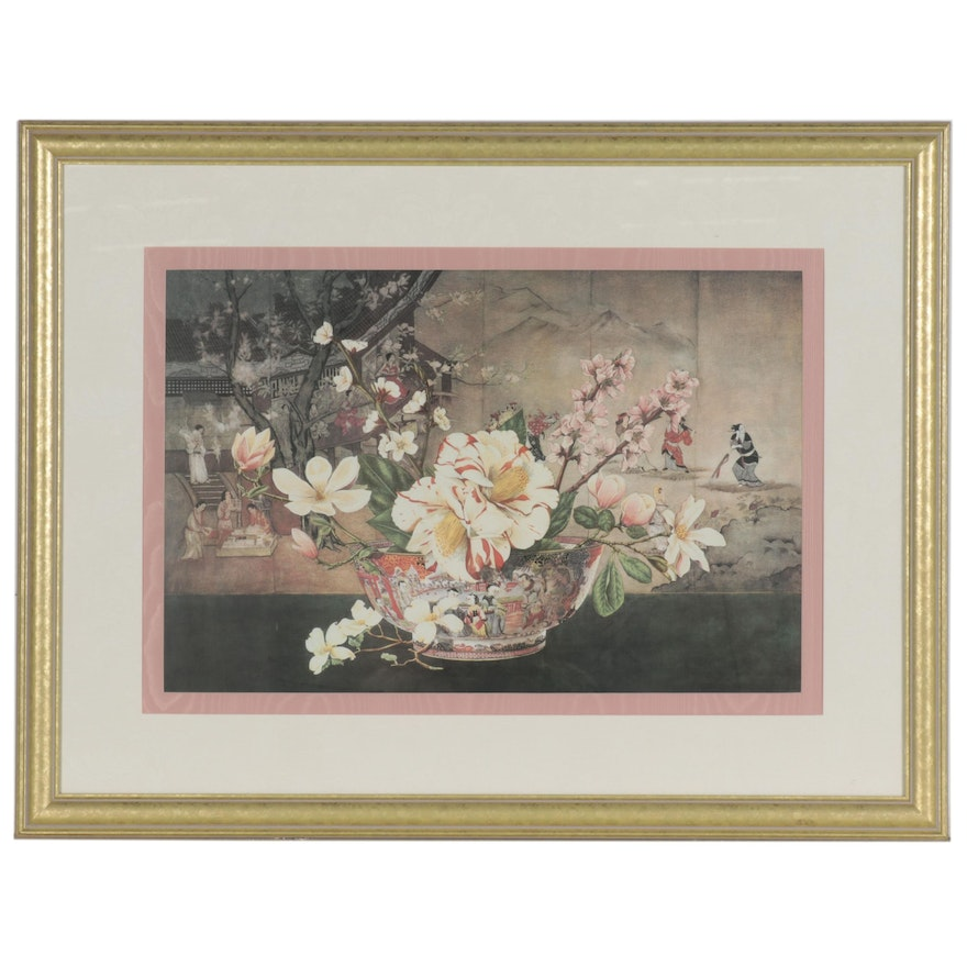 """Offset Lithograph after Dimitry Alexandroff """"The Chinese Bowl"""""""