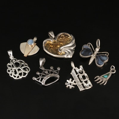 Sterling Pendant Selection Featuring Diamond and Gemstone Accents