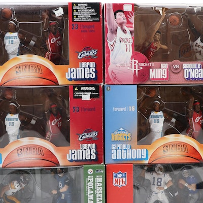NFL and NBA Action Figures, Including Peyton and Eli Manning