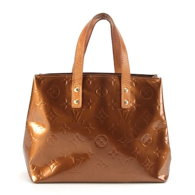 Louis Vuitton Reade PM in Bronze Monogram Vernis