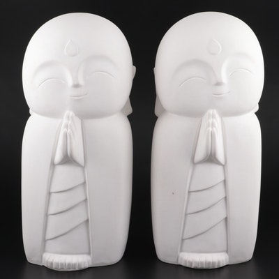 Nicole Miller Home Japanese Smiling Jizo Composite Garden Statues