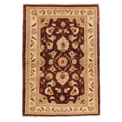 2'8 x 3'10 Hand-Knotted Pakistani Wool Accent Rug