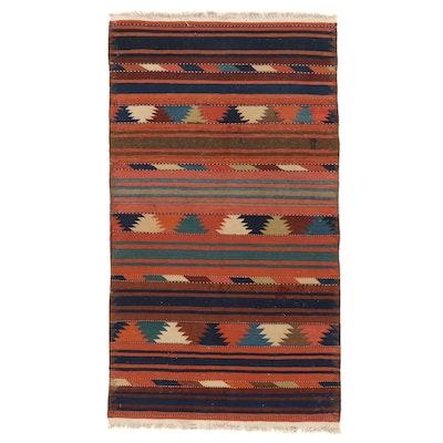 3'0 x 5'5 Handwoven Afghan Kilim Wool Area Rug