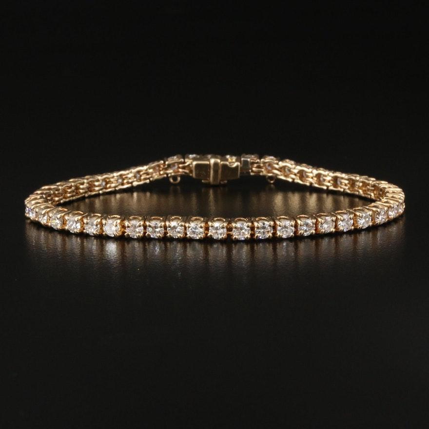14K 3.86 CTW Diamond Line Bracelet