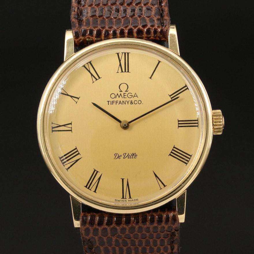 Omega De Ville for Tiffany & Co. 18K Wristwatch
