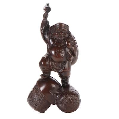 Japanese Daikokuten Cast Iron Statuette
