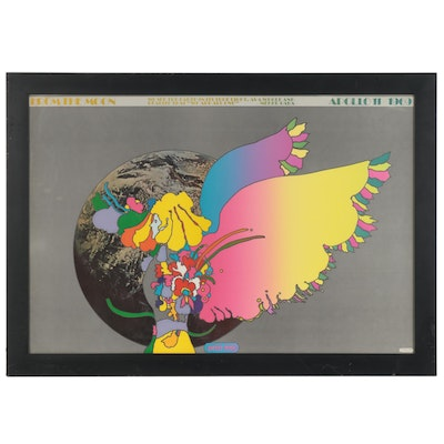 "Offset Lithograph after Peter Max ""Moon Landing,"" Late 20th Century"